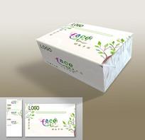 两侧透明原木浆抽纸巾包装设计