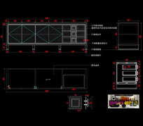 美式轻奢CAD电视柜CAD地柜CAD图库