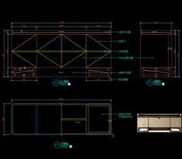 美式轻奢电视柜CAD地柜CAD图库
