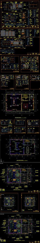 某党建荣誉室CAD施工图