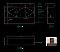 轻奢装饰柜CAD图纸电视柜CAD图库