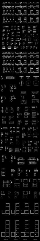 全套办公家具CAD图块