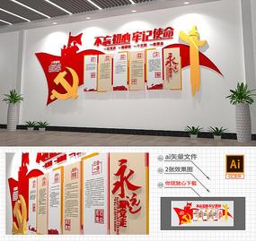 小型大气入党誓词党员活动室党建形象墙