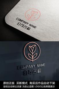 花元素标志logo商标设计