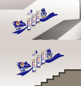 警营文化墙楼梯文化墙