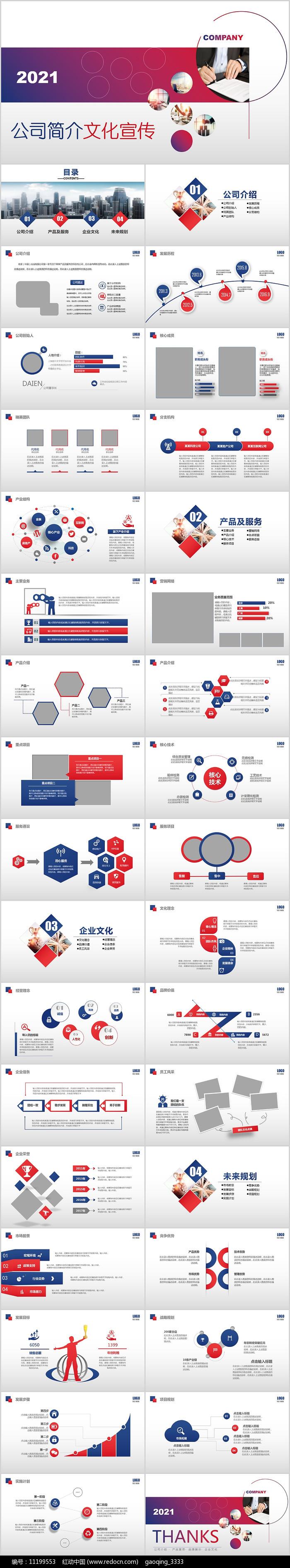 商务企业简介公司介绍PPT模板图片