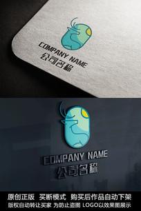 创意鹿logo标志鹿商标设计
