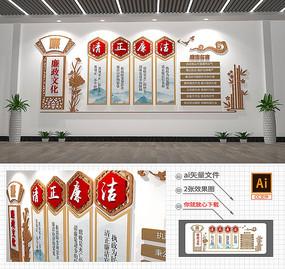 3D大型中式廉政文化墙党建廉政文化墙