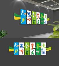 健身运动文化墙设计
