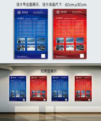 企业规章制度展板设计