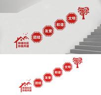 社区楼梯标语文化墙