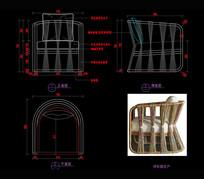 藤艺家具沙发CAD