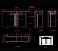 新中式家具玄关柜玄关桌CAD图库