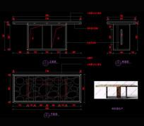 新中式家具玄关桌茶桌CAD家具