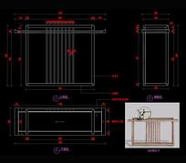 新中式家具玄关桌家具CAD图库