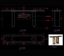 玄关桌书桌书台CAD家具图库