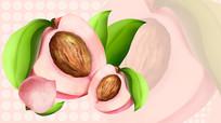 原创粉色桃子背景