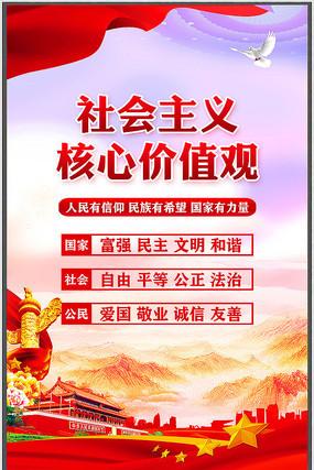 党员活动室社会主义核心价值观挂画