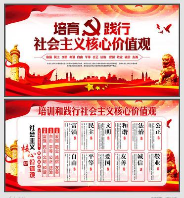 践行社会主义核心价值观宣传栏