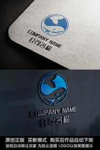 鲸鱼logo标志公司商标设计