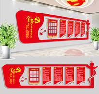 党建文化墙党员活动室模板设计