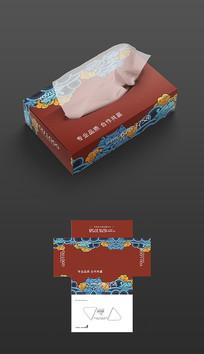 国潮餐饮抽纸盒