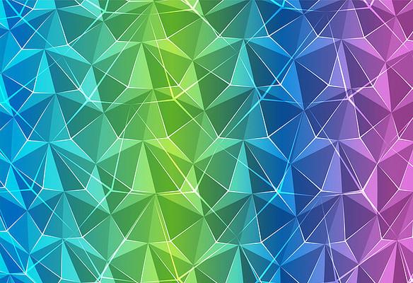 彩色立体背景