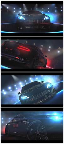 炫酷汽车logo视频模板