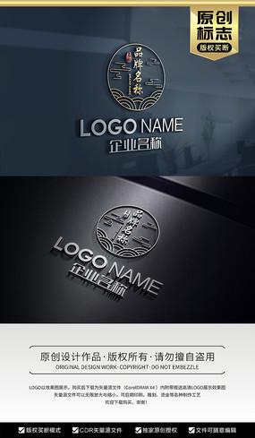 餐饮酒店食品中国风标志logo
