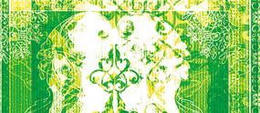 高端大气复古欧式花纹地毯背景墙