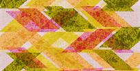 高端大气红色彩色欧式几何背景墙