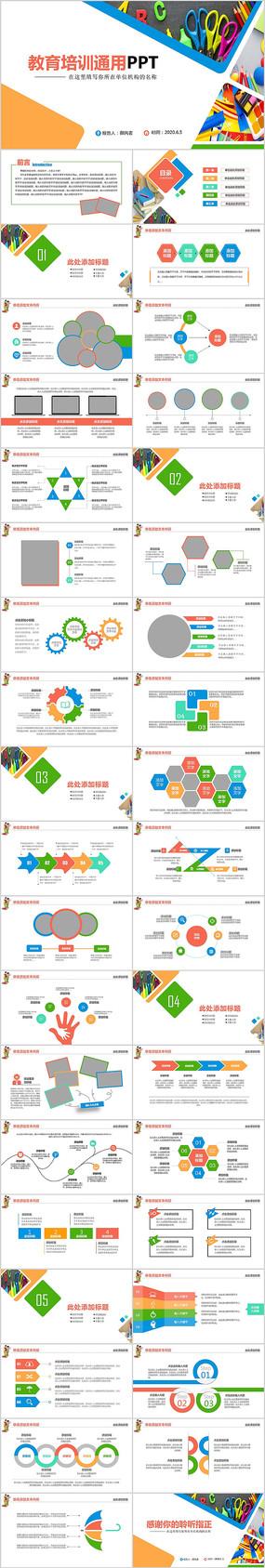 教育公开课教学设计教师说课PPT模板