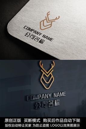 鹿logo企业标志设计