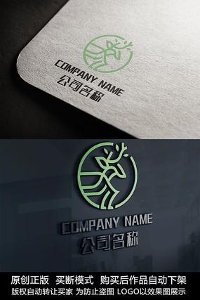 鹿形象logo标志设计