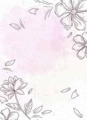 矢量花紋邊框素材