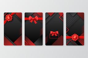 矢量礼品吊牌卡片设计
