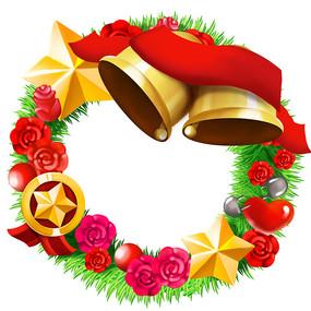 原創圣誕節鈴鐺花環