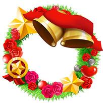 原创圣诞节铃铛花环