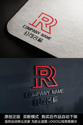 R字母logo标志R字母商标