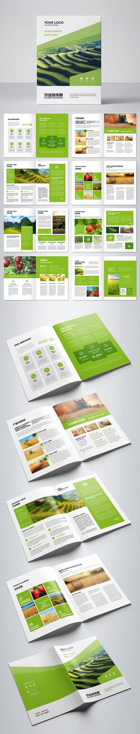 绿色环保画册有机食品宣传册设计模板