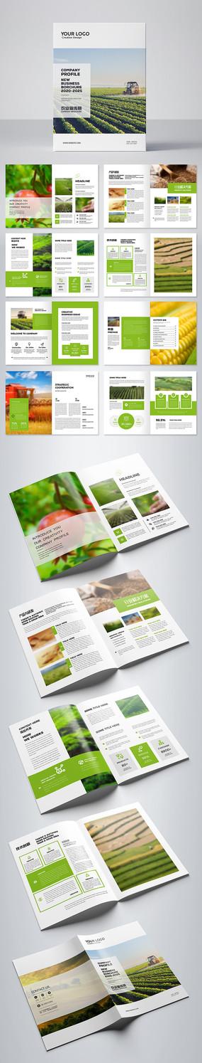 农产品宣传册农业农作物画册模板