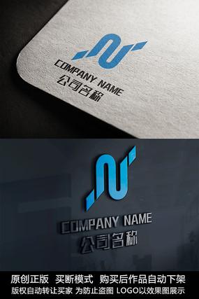 N字母logo标志N字母商标