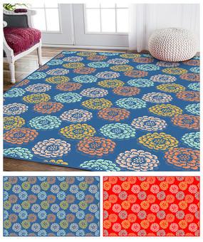 地毯大氣花紋圖案設計