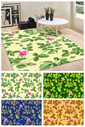 地毯唯美花紋圖案設計