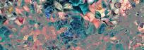 高端典雅欧式油画花卉背景墙