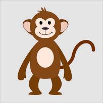 手绘卡通猴子插画