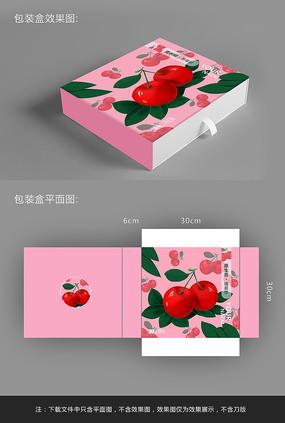 原创手绘插画樱桃包装盒