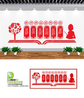 教师职业道德规范文化墙设计