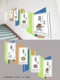 企业楼梯励志标语文化墙
