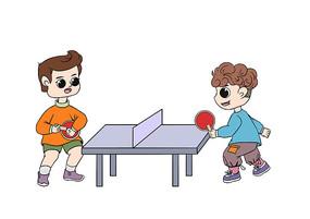 卡通两个男孩